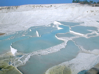Lime shelf Turkey of the world heritage of Pamukkale Stock photo [888944] Pamukkale