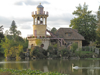 Tower overlooking the pond of Versailles Palace Gardens Stock photo [896249] Europe