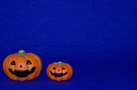 Blue back of Halloween pumpkin Stock photo [984123] Acting