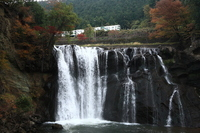 Tobu train that runs the Longmen Falls Stock photo [989912] Autumn