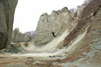 Kaishoku cliff of Hotoke-ga-ura Stock photo [991690] Rock