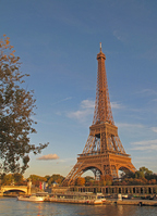 Fall of the Eiffel Tower shining in the sunset Stock photo [992971] Europe
