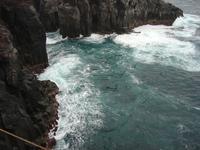 Izu of quay intense spray Stock photo [993114] Sea
