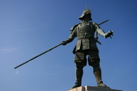 Sengoku bronze statue of warlords Stock photo [996393] Chosokabe