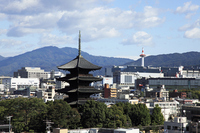 Toji five-story pagoda and Kyoto Tower Stock photo [1095971] Toji