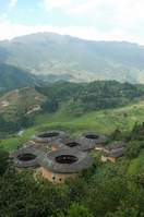 World Heritage China Fujian Tulou Tianluo pile Tulou group Stock photo [1096577] Tianluo
