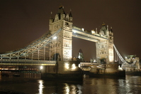 United Kingdom London Bridge night scene Stock photo [1098397] United