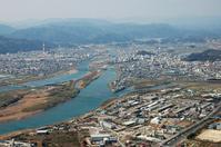 Aerial of Nobeoka city center Stock photo [1109682] Aerial