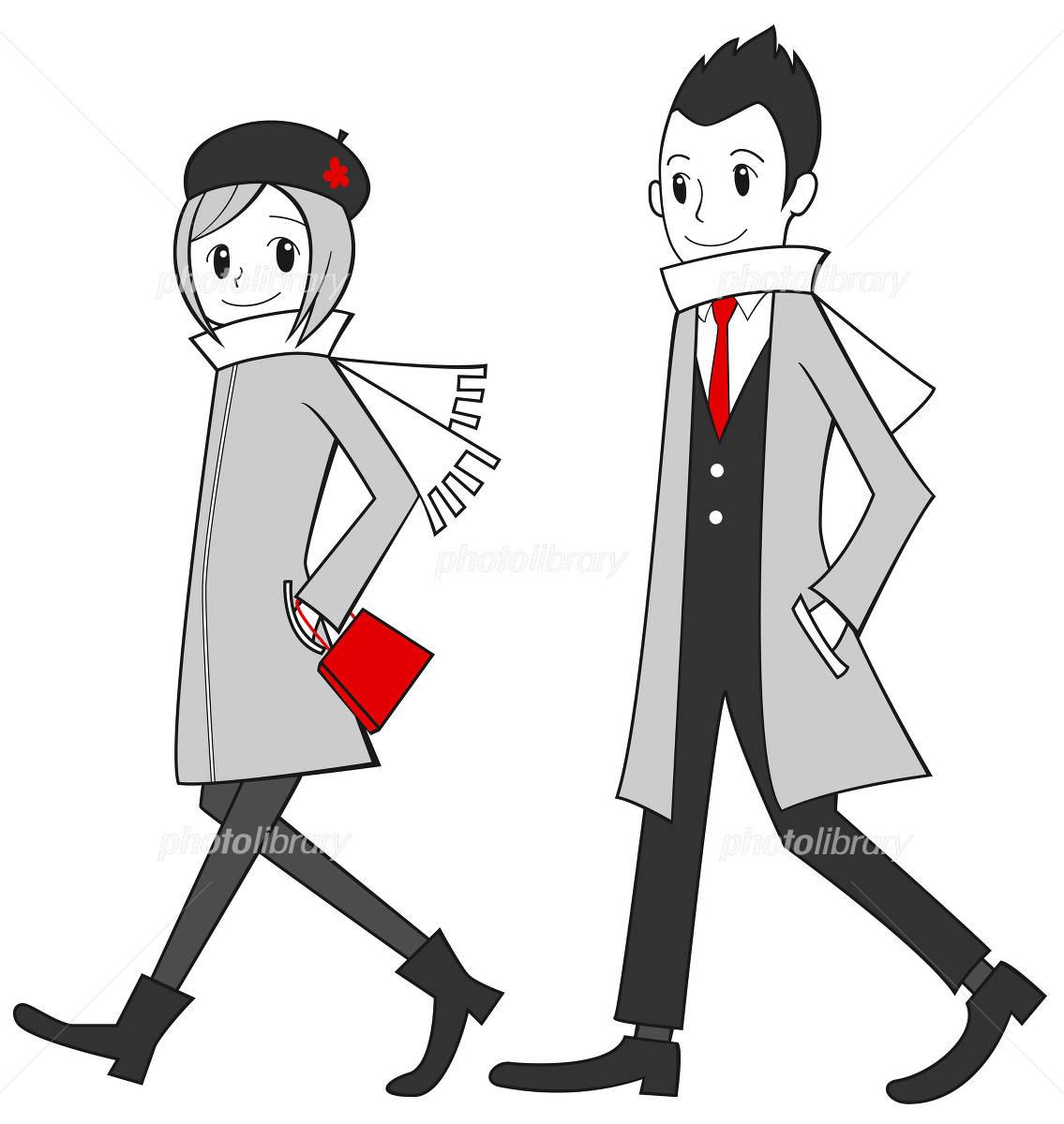 デートするカップル イラスト素材 [ 1204804 ] - フォトライブラリー
