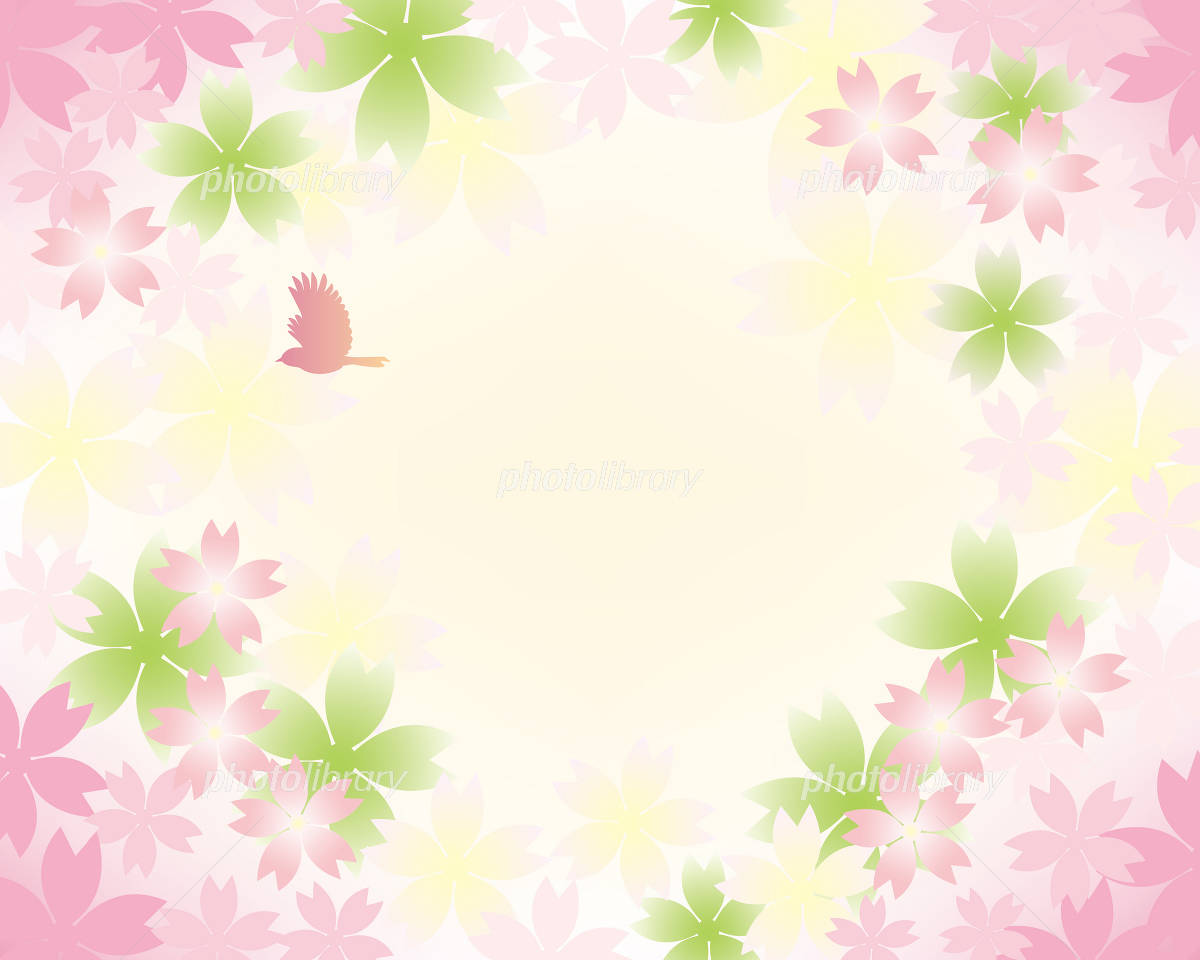 春 さくら 背景 イラスト素材 [ 1215644 ] - フォトライブラリー