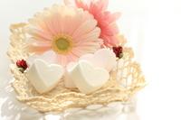 Heart-shaped marshmallow Stock photo [1203500] Marshmallow