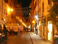 Roman night street Stock photo [1208801] Rome