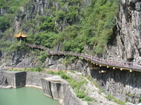 Shaanxi Province, Hanzhong Shimen Scenic Area 褒斜 plank road Stock photo [1209246] China