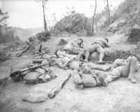 Battle of Okinawa: US soldier to take a rest Stock photo [1212346] Battle