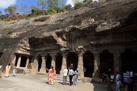 Ajanta Caves first 腦?紊? view Stock photo [1214592] India