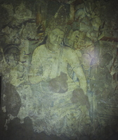 Ajanta Caves first cave lotus species Bodhisattva Stock photo [1214926] India