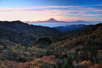 Fuji seen from maiden Plateau Stock photo [1217299] Dawn