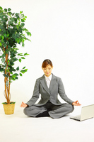 and meditation to businesswoman Stock photo [1217877] Female