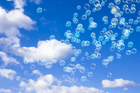 Blue sky and soap bubbles Stock photo [1292879] Blue