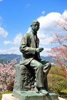 Bronze statue of Rentaro Taki Stock photo [1296563] Waterfall