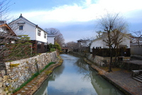 Hachiman moat Stock photo [1297843] Machiya