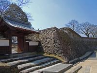 Hitoyoshi stone wall Castle of warrior-back of. Hitoyoshi