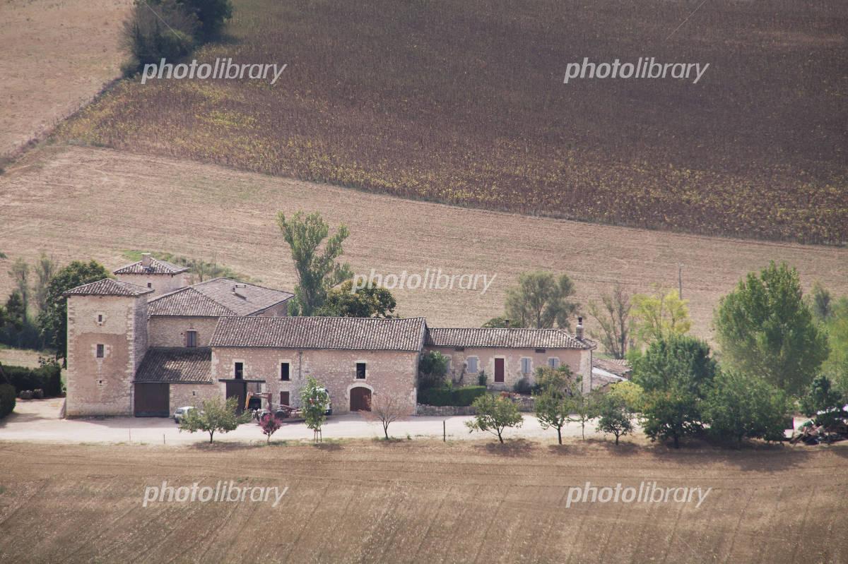 Small village cartel node Mont Mira le of France Photo