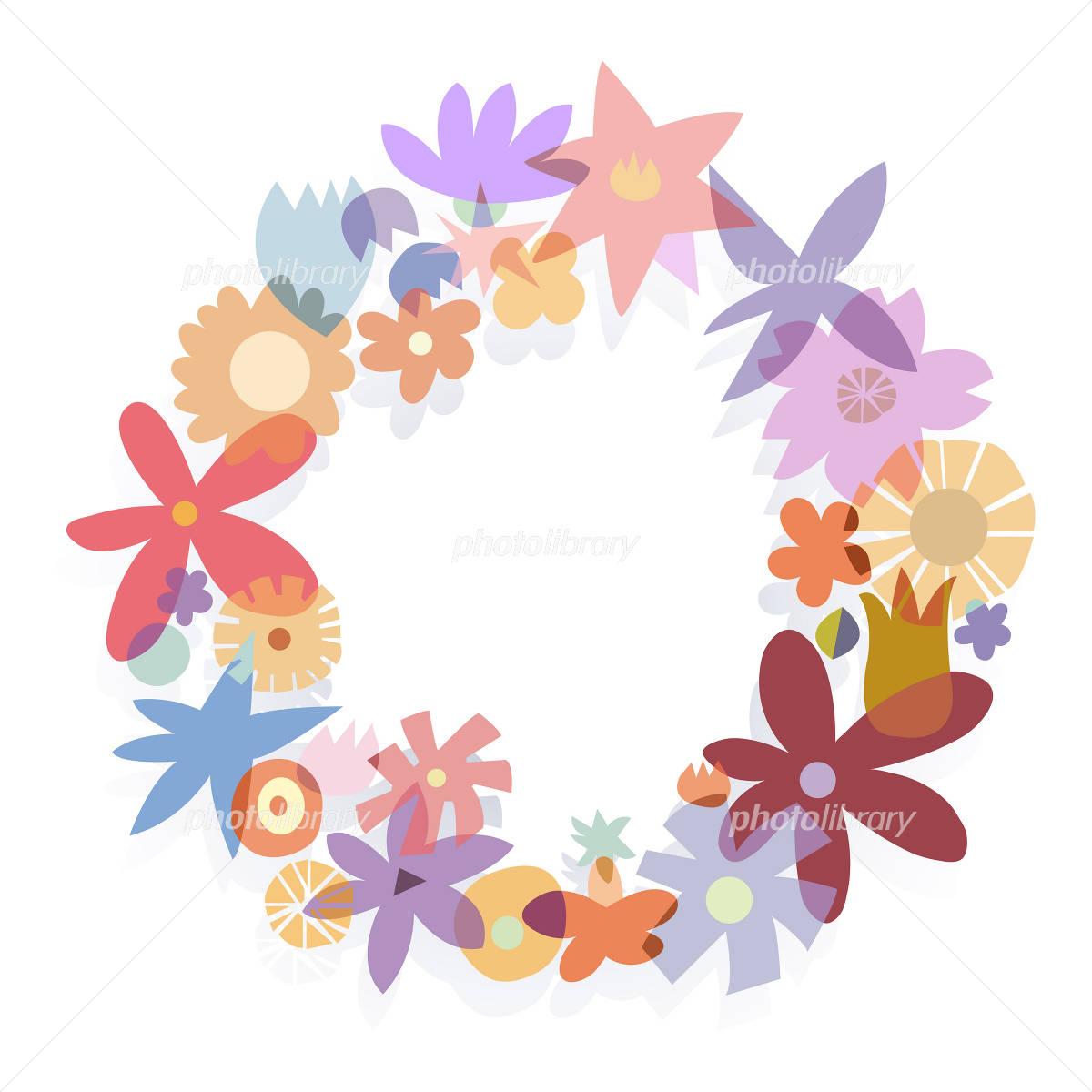 花 リース 飾り 輪 イラスト イラスト素材 1389672 フォト