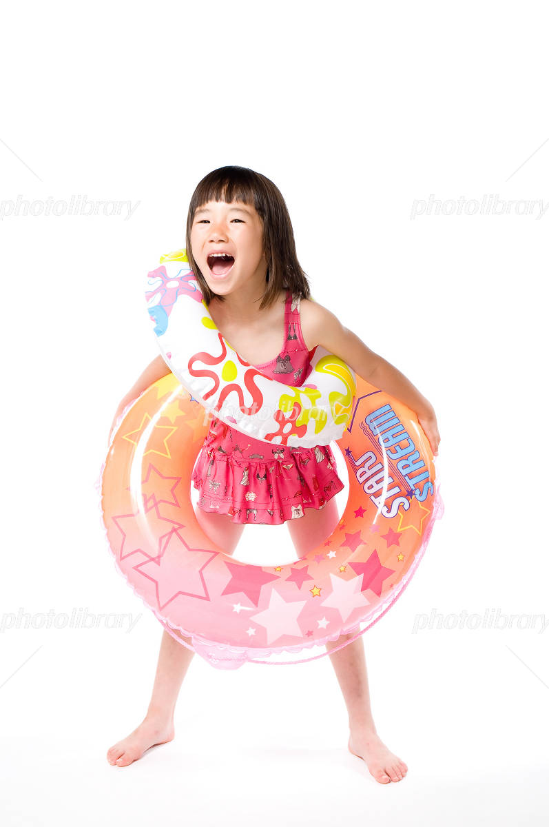 Children swimsuit with float Photo