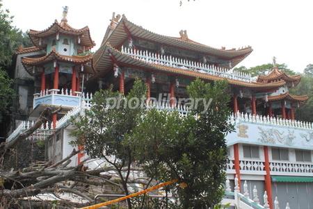 台湾 台東市 鯉魚山 龍鳳仏堂の写真素材