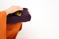 Furoshiki wrapping of orange kimono and purple Stock photo [1385994] Lifestyle
