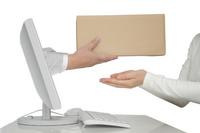 Internet mail order image white background Stock photo [1389171] Cardboard