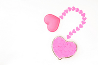 Pink heart-shaped items that you have ordered Stock photo [1389185] Hart