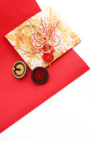 New Year New Year toys chopstick rest red and white and Beigoma Stock photo [1390958] Luck