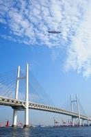 Yokohama Bay Bridge and the airship Stock photo [1391133] Yokohama