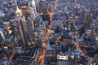 Urban New York overlooking from the Empire State Building Stock photo [1392435] New