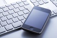 Smartphone and keyboard Stock photo [1392920] Smartphone