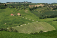 Orcia countryside valley Stock photo [1398574] Italy