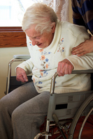 Wheelchair of senior and helper Stock photo [1487685] Wheelchair