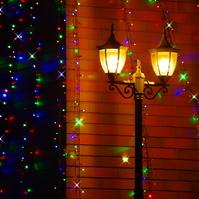 December of street corner Stock photo [1490418] Illumination