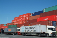 Containers and trucks Stock photo [1492188] Container