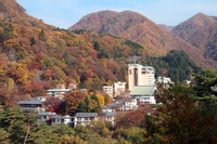 Kawaji hot spring of autumn leaves Stock photo [1493144] Kawaji