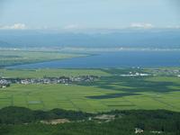 Seen from Samukazeyama Hachirogata reclaimed land Stock photo [1585638] Hachirogata