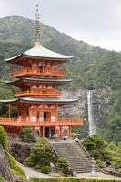Nachisan triple tower and Nachi waterfall Stock photo [1587168] Kumano