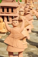 woman of clay figure dance Stock photo [1588989] Clay