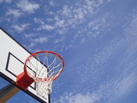 Basketball goal Stock photo [1592811] Blue