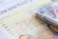 Economic newspaper and pen Stock photo [1594593] Economic