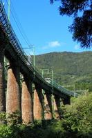 Joetsu Line Kedozawa iron bridge Stock photo [1595937] Joetsu