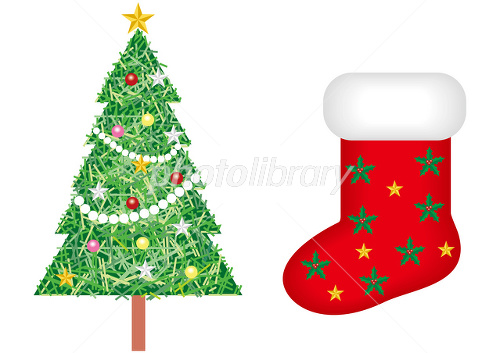 クリスマスツリーと靴下