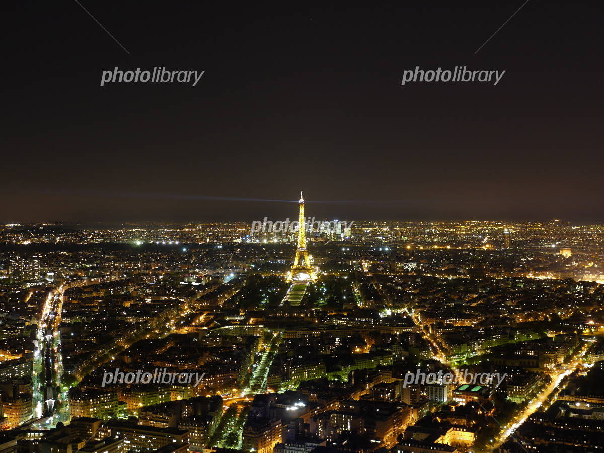 Night view from the Paris-Montparnasse Tower Photo
